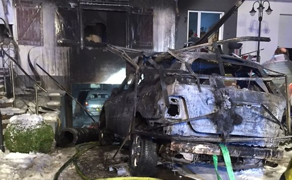 Car Catches Garage On Fire In Rochester: Car Catches Fire In Garage