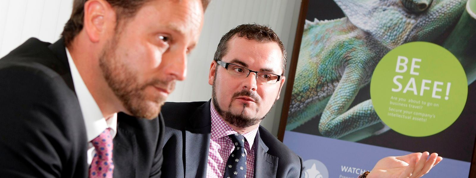A partir de 2010, Jean-Claude Knebeler (à droite) met sur pied la promotion économique. Ici en compagnie d'André Kemmer, alors agent du service de renseignement.