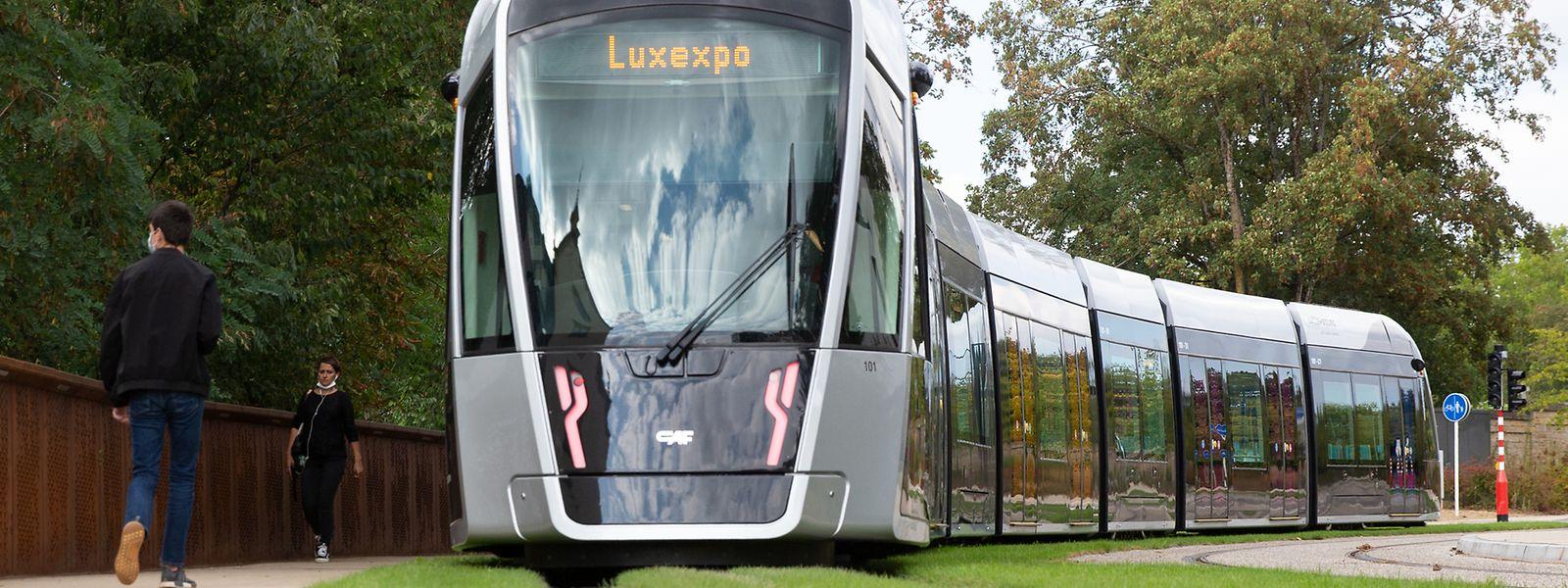 Bis Ende 2023 soll die Tram ebenfalls von der Luxexpo zum Flughafen fahren.
