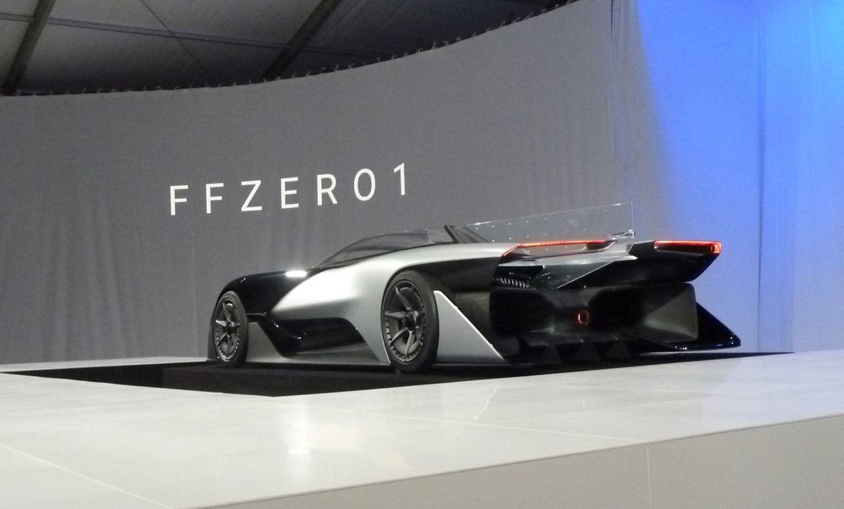 Beim Rennwagen FFZERO handelt es sich um ein Elektrofahrzeug.