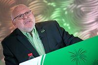 LCGB 1.Mai-Feier im Stream mit Nationalpräsident Patrick Dury aus dem Parc Hotel Alvisse in Dommeldingen. (Foto: Alain Piron)