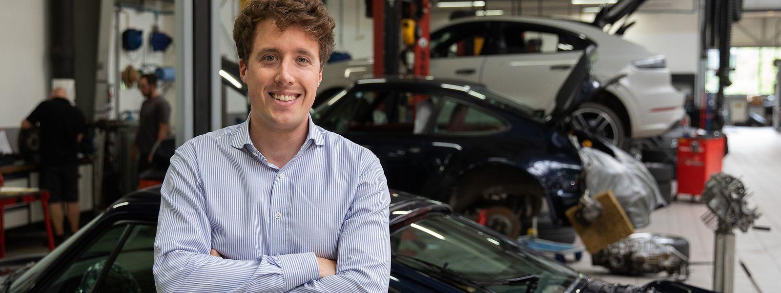Mit Sportautos und unternehmerischer Tätigkeit konnte Charles Heisbourg zwei Dinge miteinander verknüpfen, die er mag: Seit einem halben Jahr ist er für den Handel mit Porsche, Lamborghini und Bentley in Luxemburg verantwortlich.