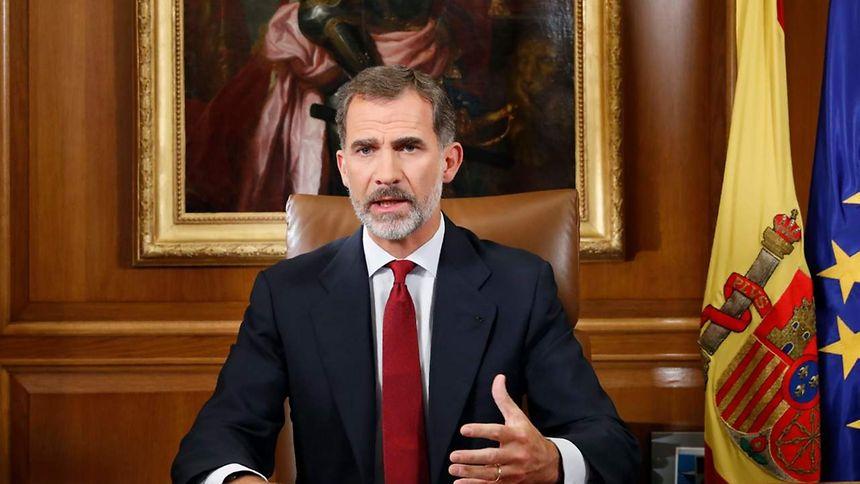 Katalonien: König Felipe VI. wendet sich an Nation und kritisiert Regionalregierung