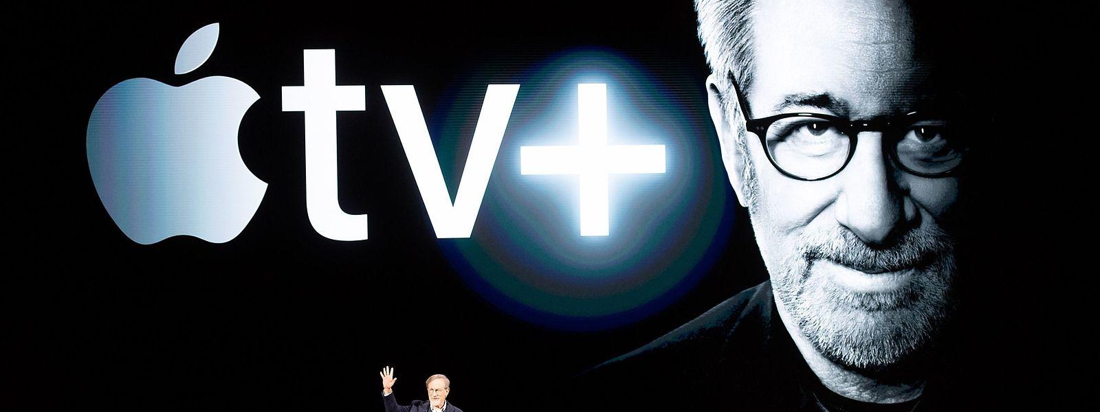 Le réalisateur Steven Spielberg a participé à la présentation des nouveaux produits d'Apple, lundi en Californie.