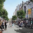 La voie publique est réservée à la mobilité alternative et propose suffisamment d'espace pour les piétons et les cyclistes.