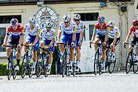 Bob Jungels und seine Teamkollegen besichtigten die Streckenführung einiger Flandernklassiker.