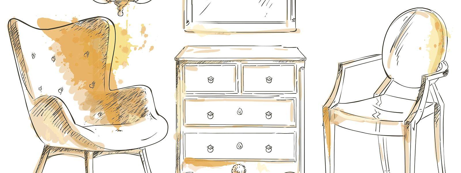 Secondhand-Möbel gibt es nicht nur auf dem Flohmarkt.