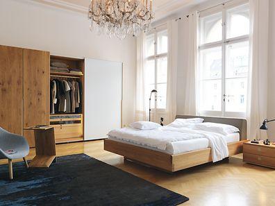 """Das Bett der Serie """"Nox"""" ist aus massivem, schadstofffreiem Naturholz und metallfrei gefertigt."""