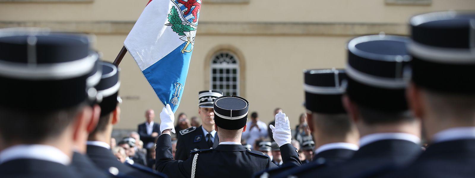 Cérémonie d'assermentation de la 15e promotion inspecteurs de la police grand-ducale.