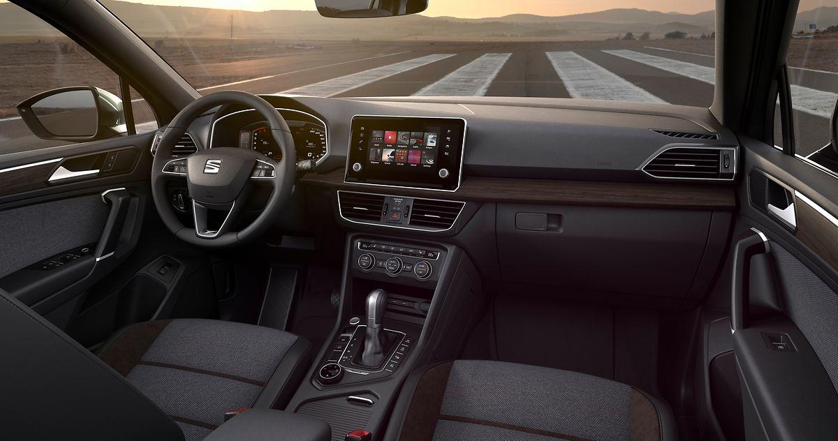 Das Tarraco-Cockpit präsentiert sich modern und übersichtlich.