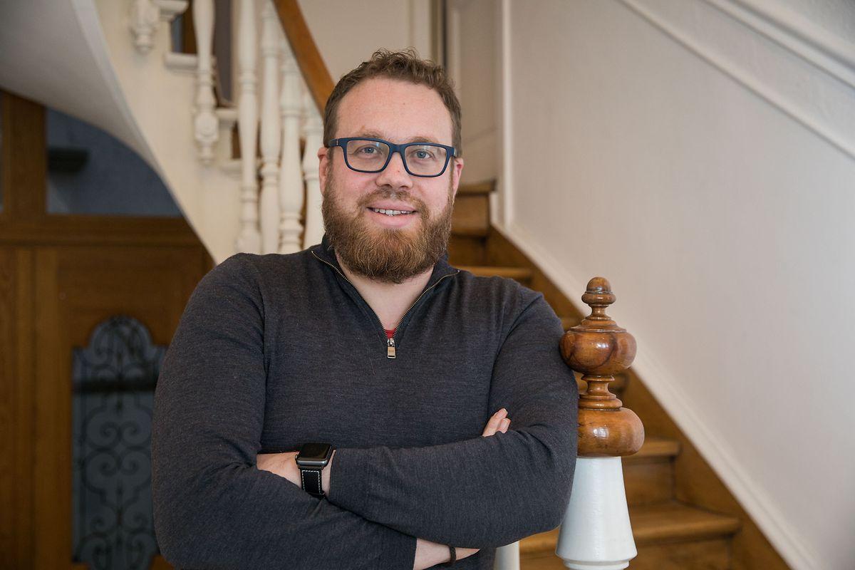 Julien Doussot, le CEO de Telecom Luxembourg International, prêt à lancer son réseau de connectivités internationales, ce lundi.