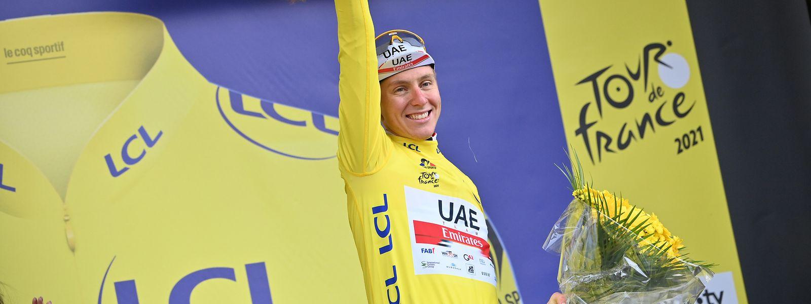 Bislang verläuft die 108. Tour de France für Tadej Pogacar nach Plan.