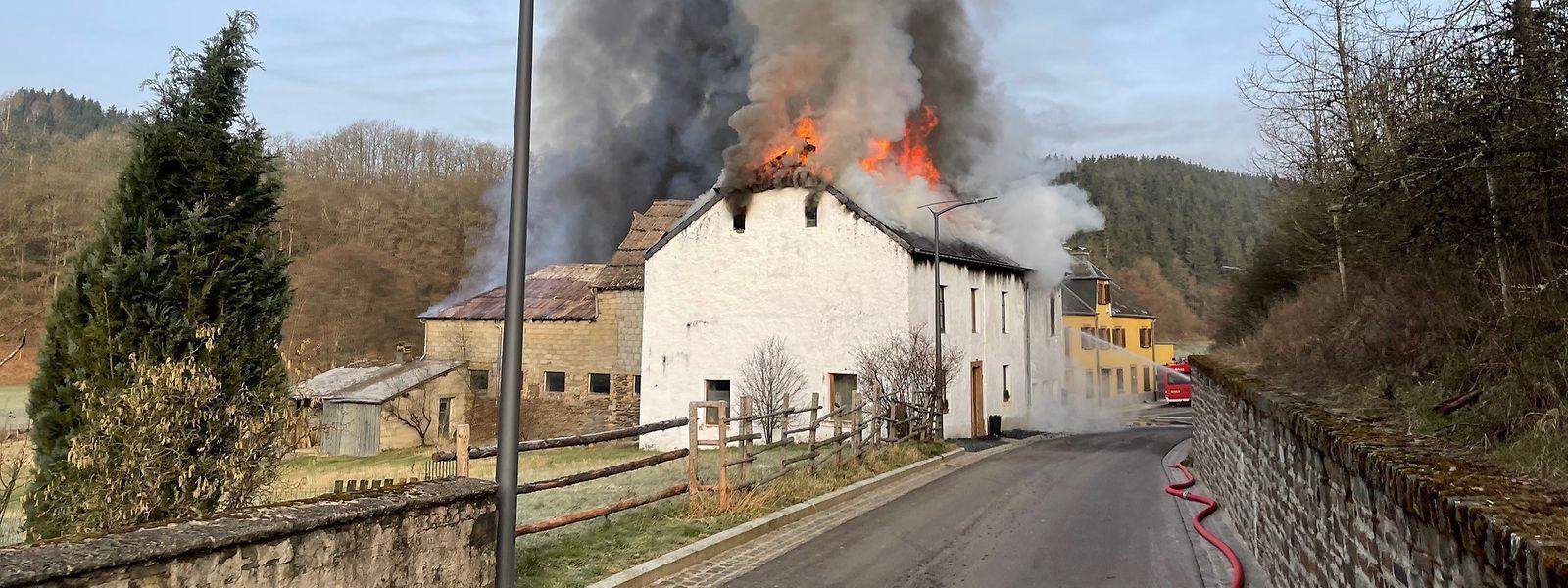 Vor Ort waren rund 50 Feuerwehrleute aus dem Norden des Landes im Einsatz.