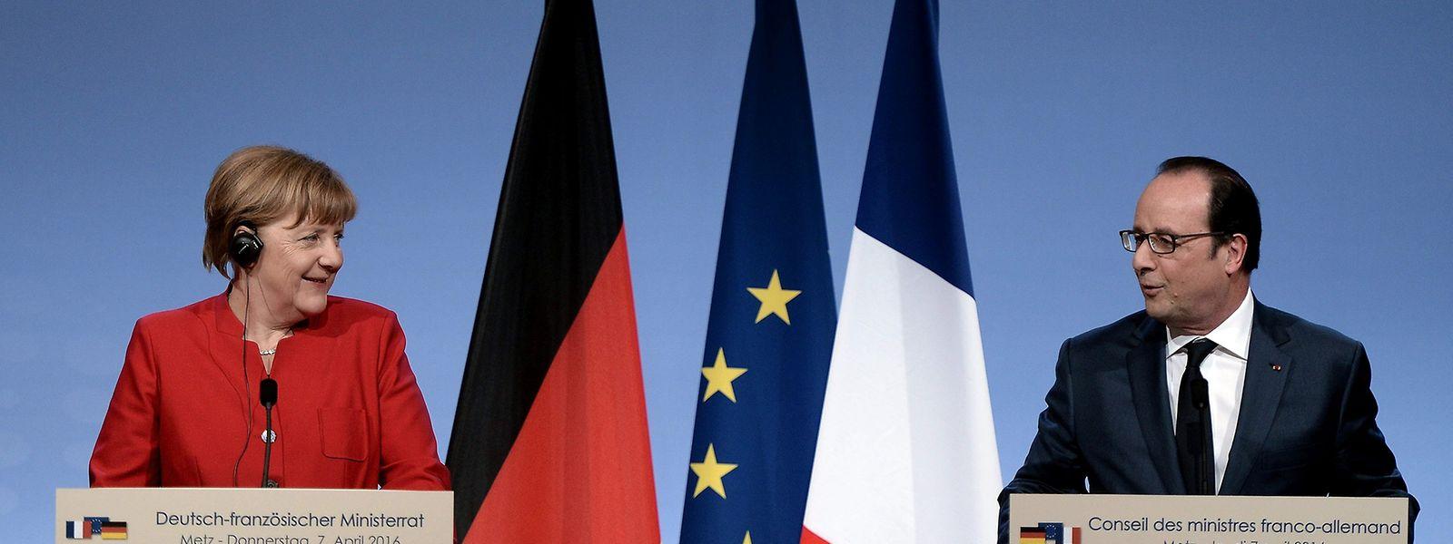 Die deutsche Bundeskanzlerin und der französische Staatspräsident setzen auf Einigkeit.