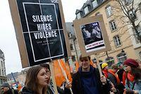 La marche contre les violences faites aux femmes a fortement mobilisé, samedi.