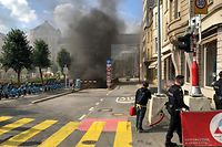 Brand Rousegäertchen Garage Luxemburg-Stadt