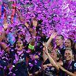 Kapitänin Wendy Renard und ihre Teamkolleginnen aus Lyon ließen sich feiern.