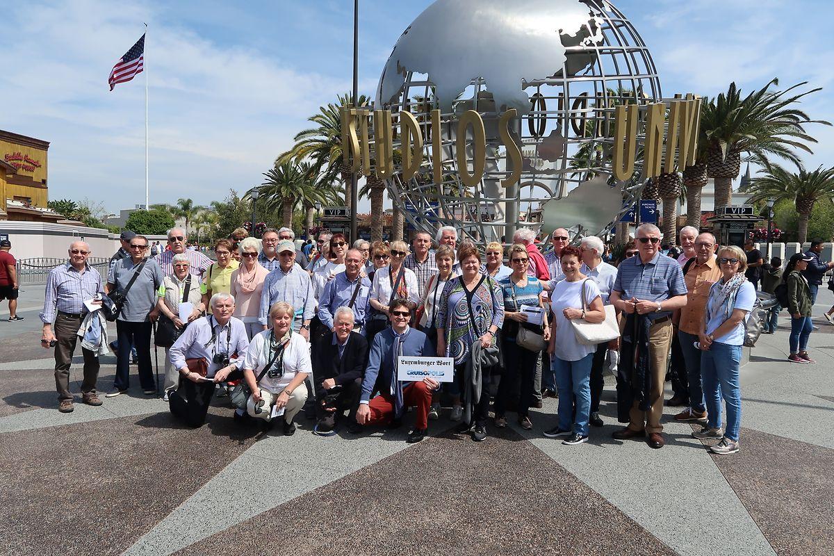 """Die Teilnehmer der Leserreise von """"Luxemburger Wort"""" und Cruisopolis besuchten am ersten Tag die Universal Studios in Hollywood."""