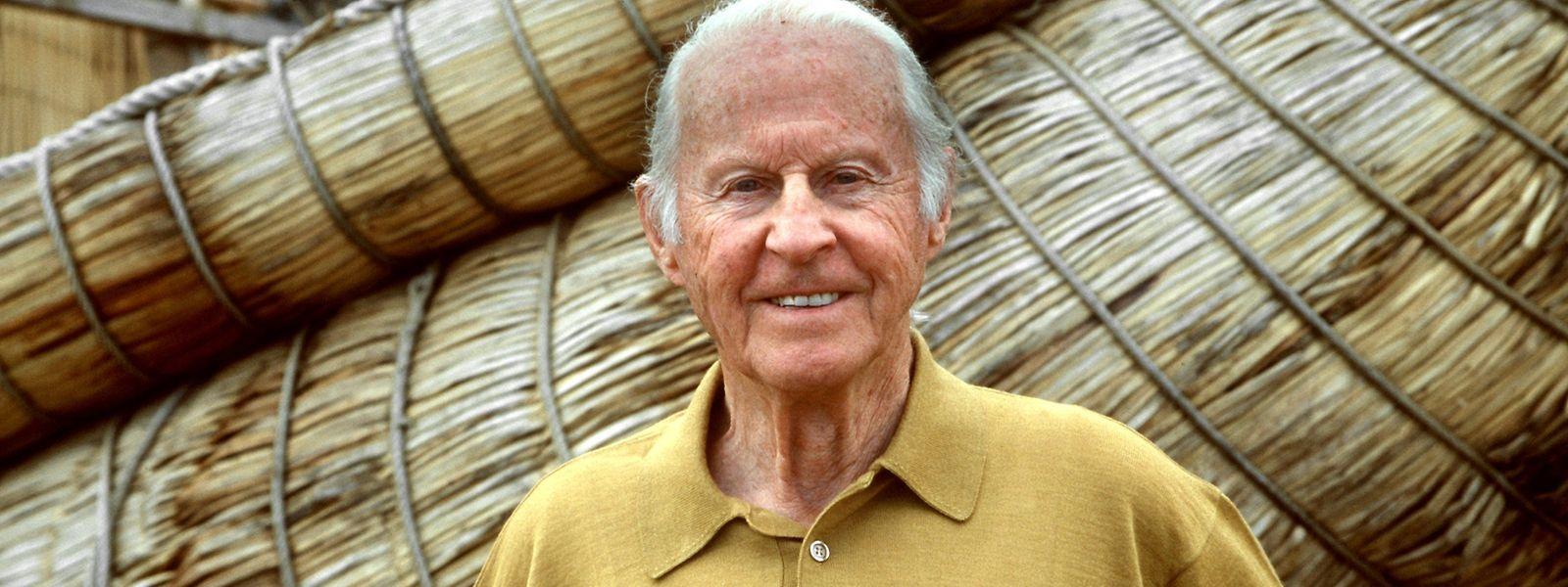 Der norwegische Abenteurer, Entdecker und Völkerkundler Thor Heyerdahl - eine Aufnahme aus dem Jahr 1998.