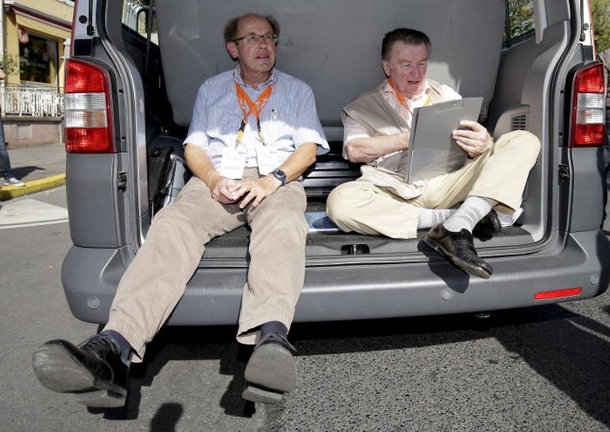 Hautnah dabei: 2014 zusammen mit Pierre Gricius (l.) bei der Route du Vin.