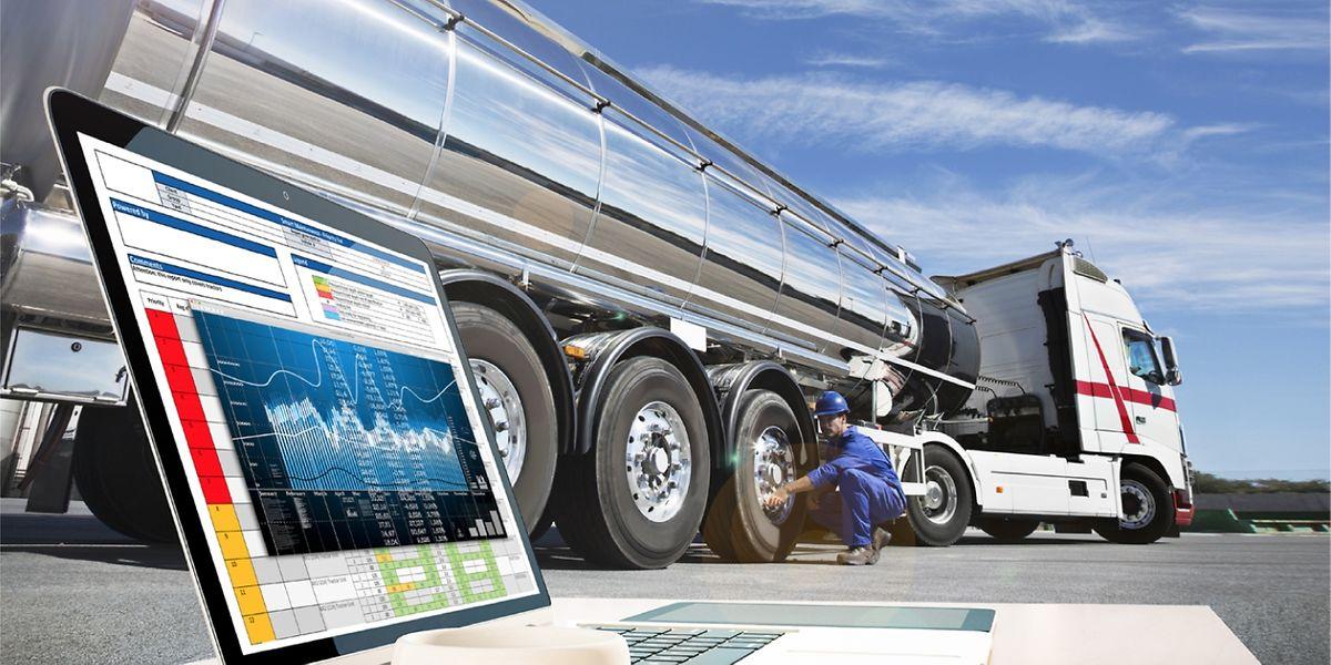 """Das sogenannte """"Drive-over-Reader""""-Modul bestimmt vollautomatisch die Profiltiefe und den Luftdruck, wenn ein Fahrzeug auf den Betriebshof fährt oder diesen verlässt.⋌(FOTO: GOODYEAR) Vernetzte Services für Fuhrparkbetreiber Goodyear Proactive Solutions ermöglicht Echtzeit-Monitoring von Lastwagen."""