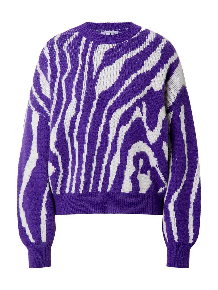 Die wilden Achtziger lassen grüßen: auffälliger Pullover aus einem Alpaka-Polyacryl-Gemisch von Edited, um 100 Euro.
