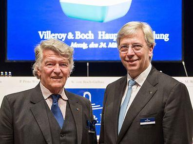 Yves Elsen (rechts) war bisher bereits Mitglied des V&B-Aufsichtsrates und löst nun den bisherigen Vorsitzenden Wendelin von Boch-Galhau (links) an der Spitze des Gremiums ab.