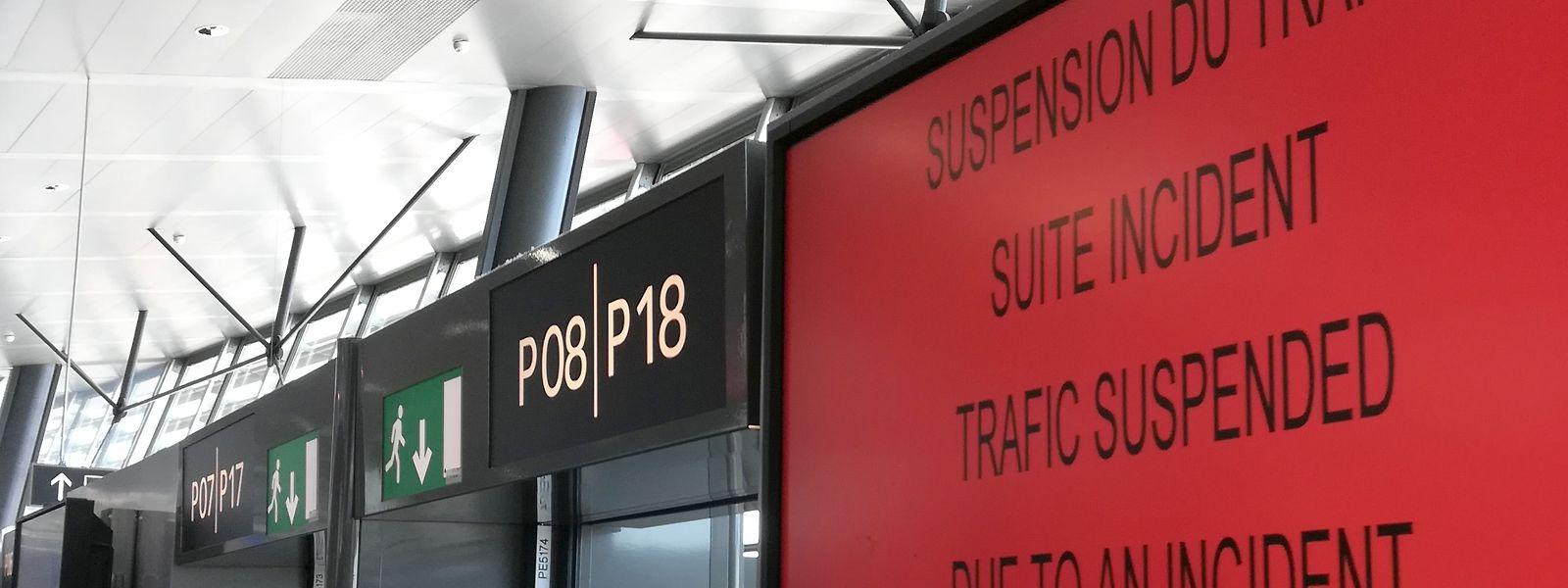 Le terminal de l'aéroport Lyon Saint-Exupéry ce lundi