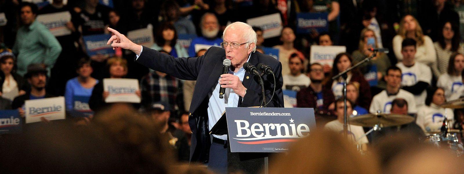 Der demokratische Präsidentschaftskandidat Bernie Sanders bei einem Wahlkampfevent an der University of New Hampshire in Durham, New Hampshire.