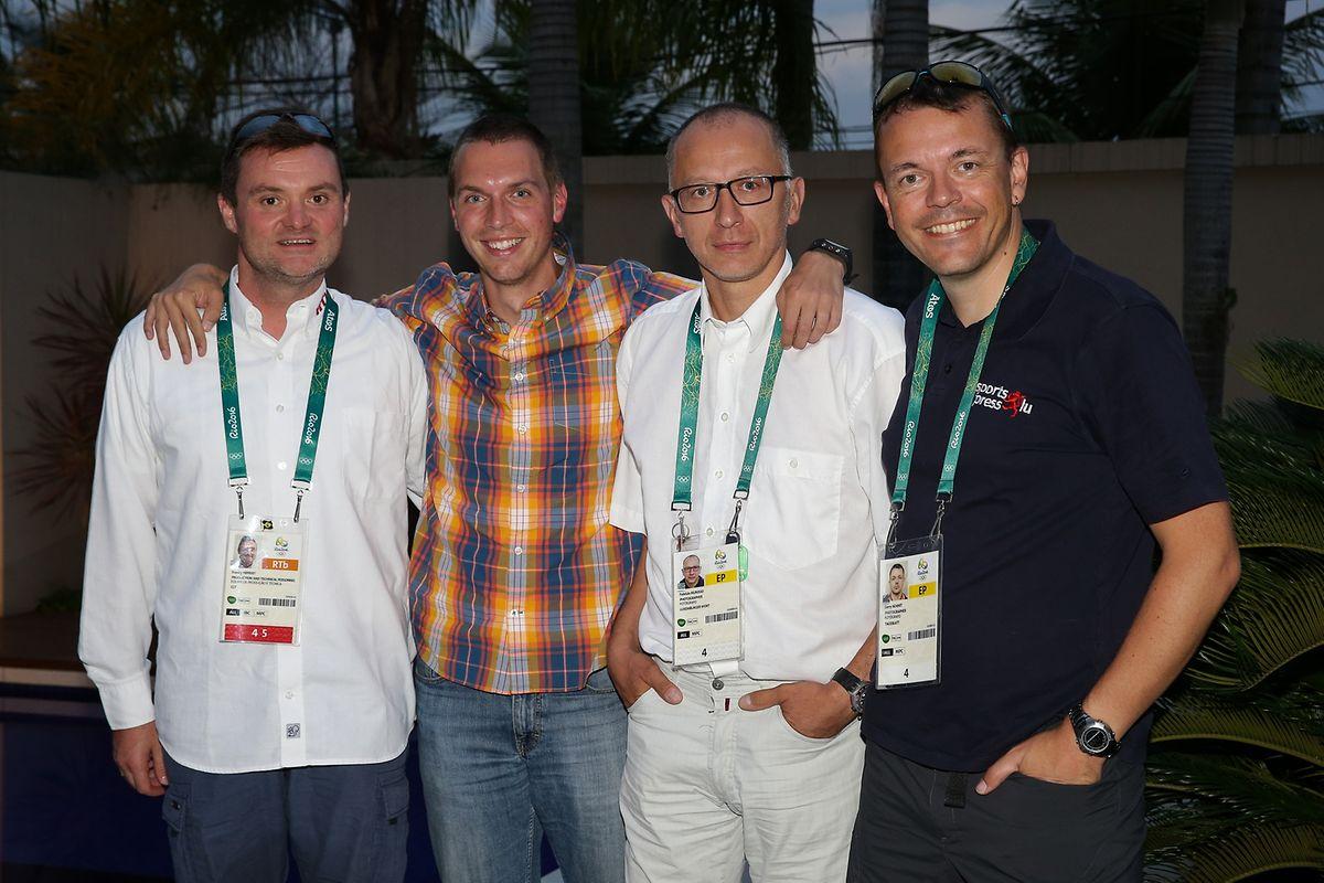 """""""When Weiler goes Rio"""": Franky Hippert, Kevin Zender, Fabrizio Munisso und Gerry Schmit."""