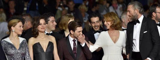 O realizador Xavier Dolan (ao centro) com os actores do filme