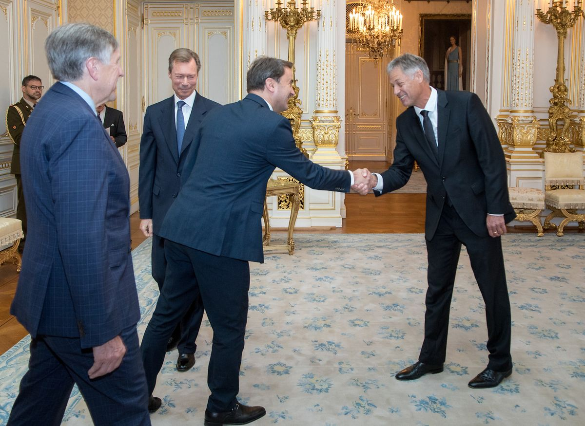 Après celles du Grand-Duc, Henri Kox a reçu les félicitations du Premier ministre Xavier Bettel.