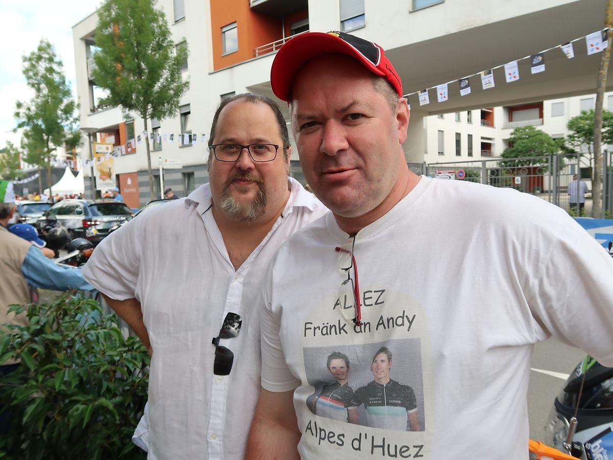 Christophe Ludovicy et Serge Feller ont plein de souvenir communs avec les frères Schleck sur le Tour et n'auraient pas manqué ce départ à Mondorf-les-Bains.