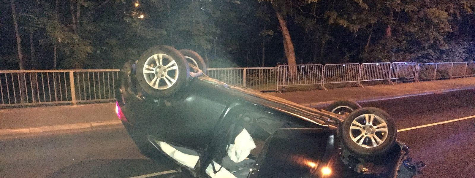 Le conducteur était ivre et a perdu le contrôle de sa voiture.