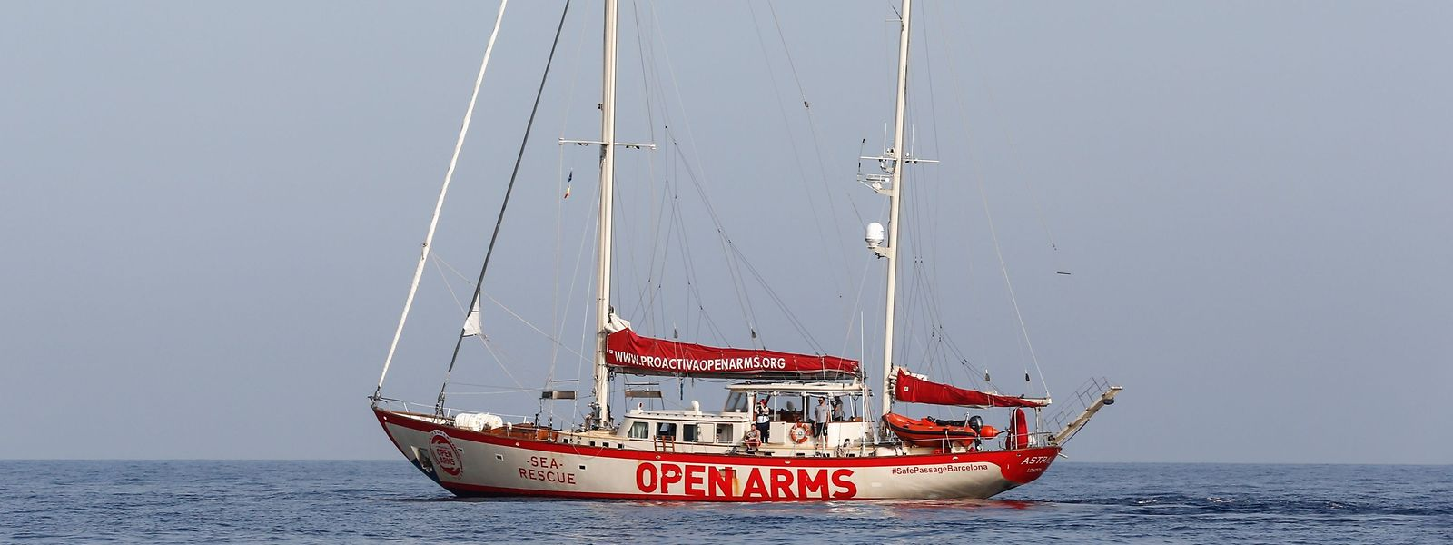Das Rettungsschiff der Open Arms Foundation.