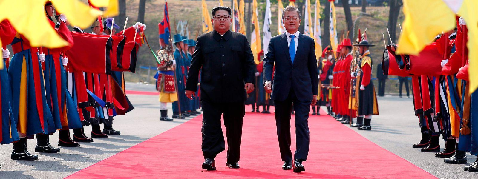 Am Donnerstag hatten sich die Staatschefs von Nord- und Südkorea an der Grenze getroffen.