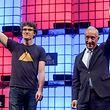 O Presidente português Marcelo Rebelo de Sousa e o CEO da Web Summit, Paddy Cosgrave.