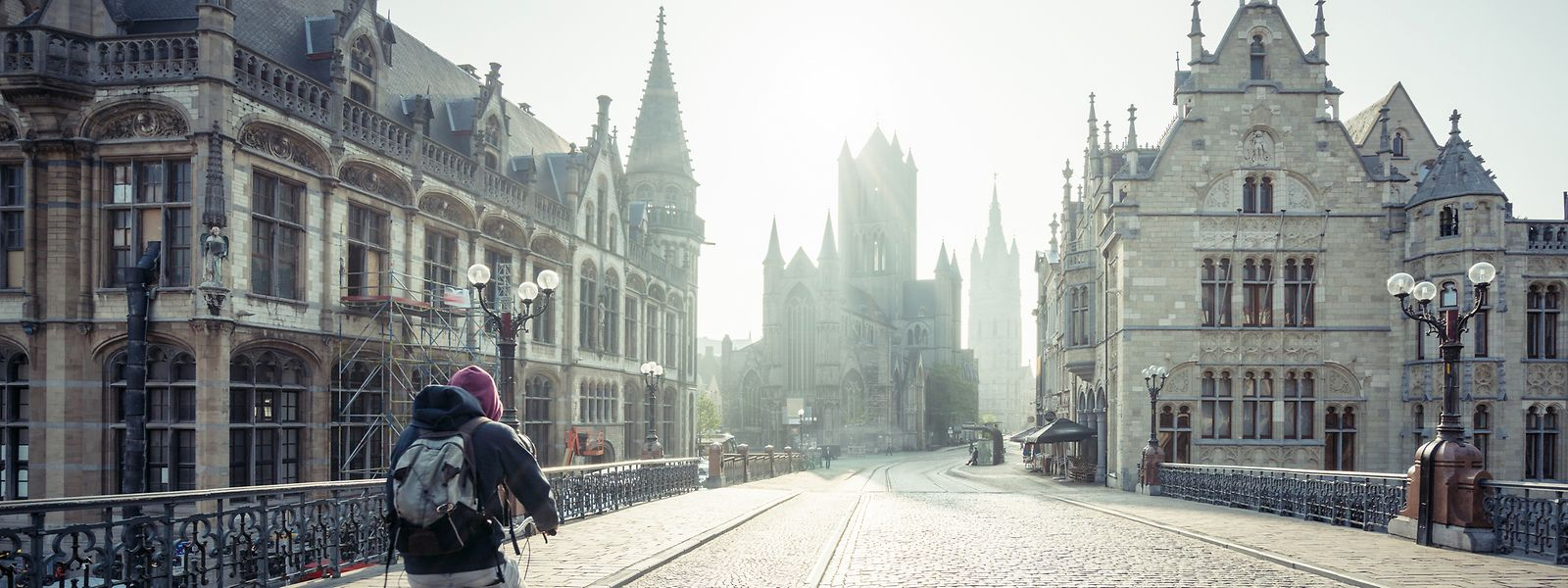 Mit dem Fahrrad durch die Kulturmetropole Gent.