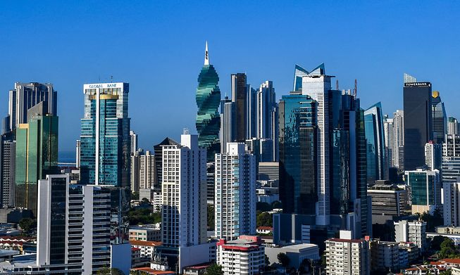 This 2019 file photo the financial centre of Panama City, which faces new reputational risk after revelations about the secret offshore assets of the rich and influential