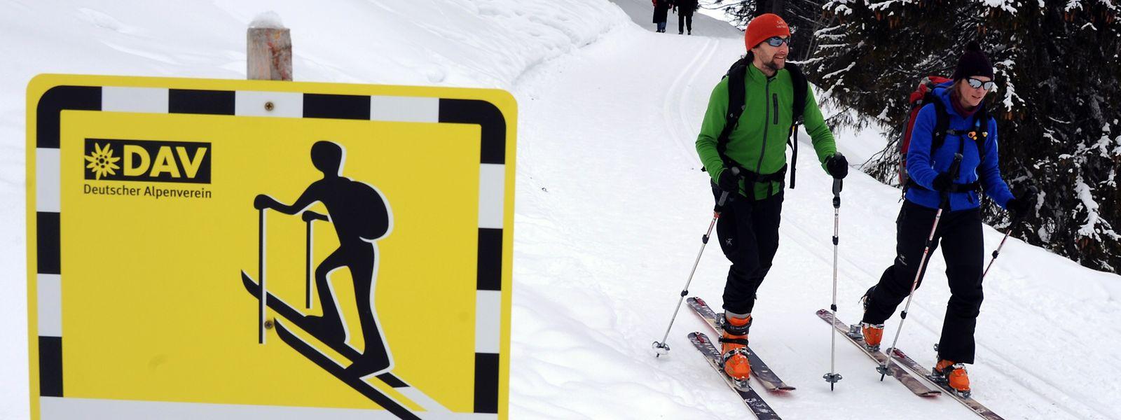 Hier geht es bergauf: Der Alpenverein sorgt unter anderem für die Markierung von Aufstiegsrouten.