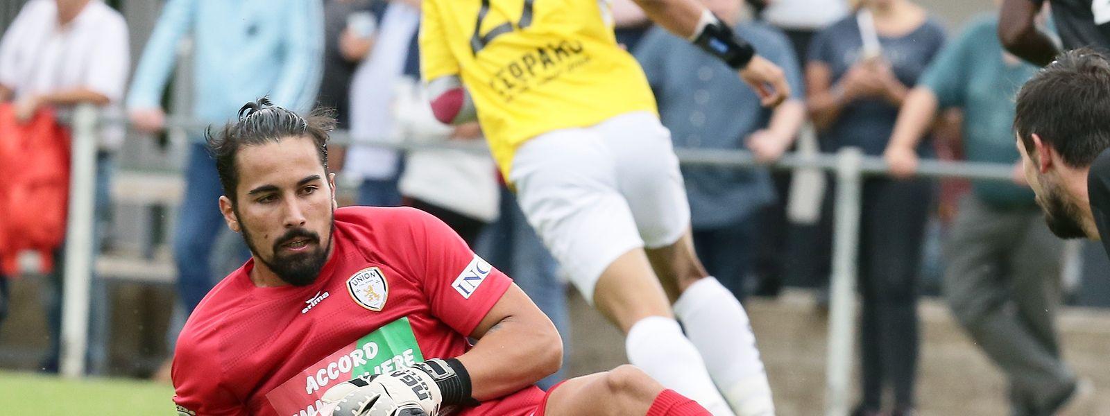 O jovem guarda-redes luso quer afirmar-se no campeonato luxemburguês