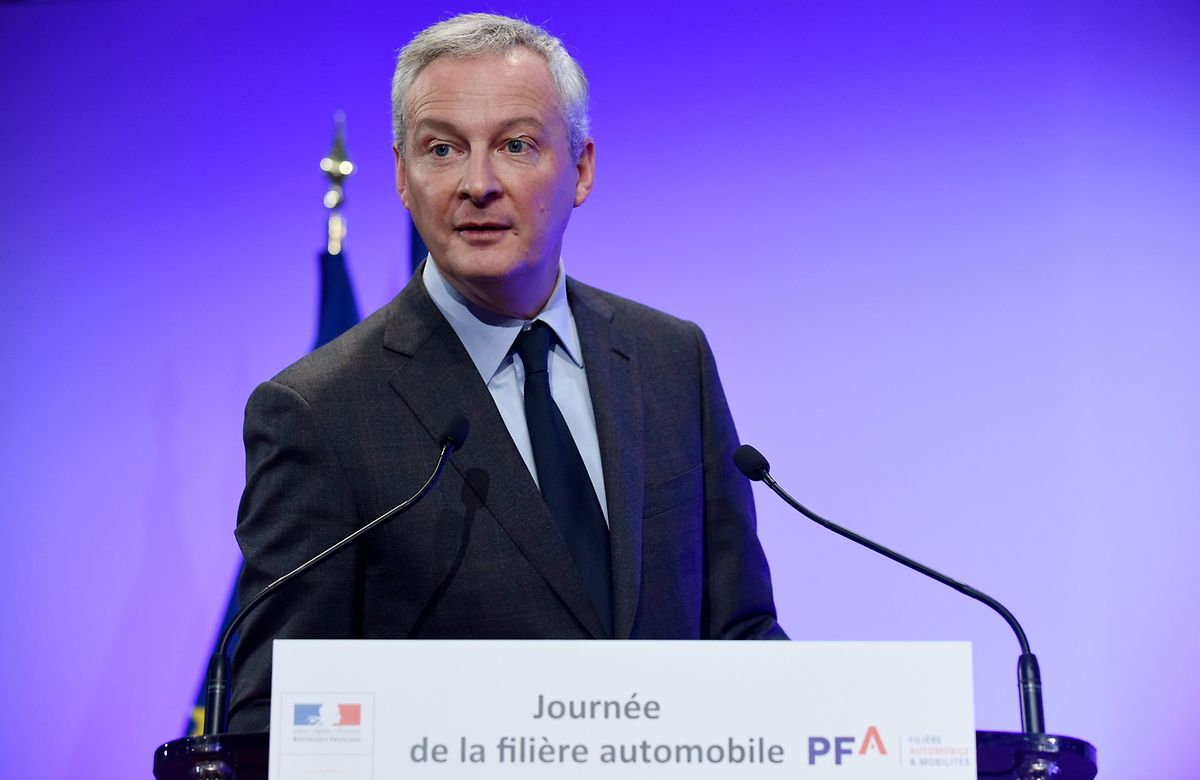 Der französische Wirtschafts- und Finanzminister Bruno Le Maire bei einer Veranstaltung am Montag.
