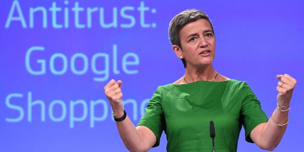 EU-Wettbewerbskommissarin Margrethe Vestager hat eine Millardenstrafe gegen Google verhängt.