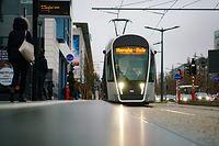Lokales, 1 Jahr Tram, Mobilität,Kirchberg. Foto: Gerry Huberty
