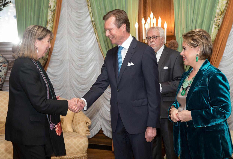 Das großherzogliche Paar empfing die Abgeordneten im Palais.