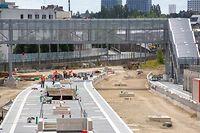 Wort.fr, Travaux extension quais gare centrale, Baustelle CFL, Bahnhof, Hauptbahnhof, foto: Chris Karaba/Luxemburger Wort