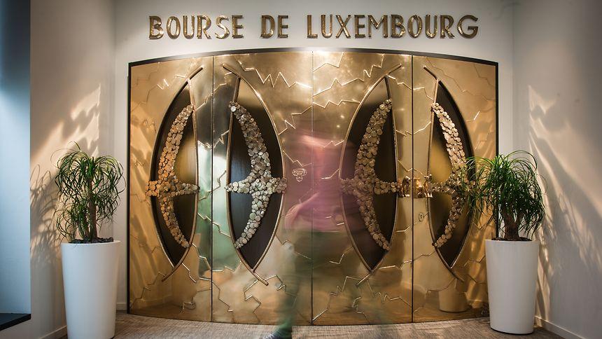 The doors of Bourse de Luxembourg