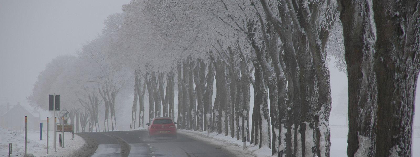Bilder, die nur der Winter malt: Straße in der Nähe von Wintger