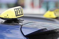 Ein Bild, das man immer mehr sieht: Die Taxiautos stehen still.