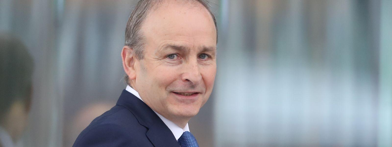 Micheál Martin, Vorsitzender der Partei Fianna Fail, kommt zur Wahl des neuen irischen Premierministers im Kongresszentrum.